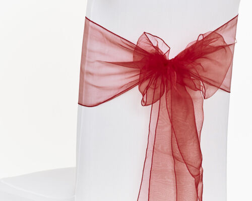 1 10 50 100 Organza SashesChair Cover Chair Sash Bows Wider Bow Wedding Party