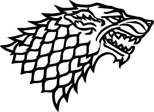 Stark Direwolf Game Of Thrones Vinyl Decal Car Truck Wall Sticker