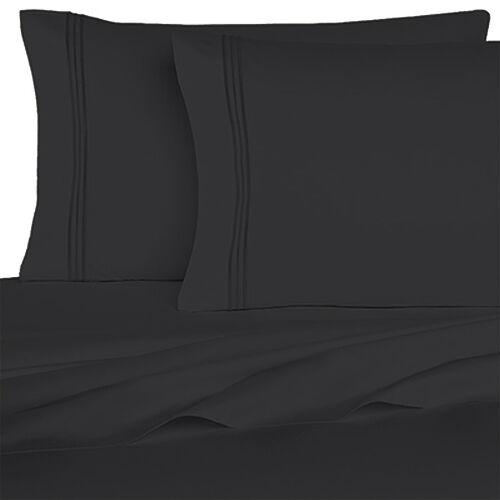 BedClothes 6 Piece 1800 Series Solid Sheet Set Deep Pockets Microfiber Bedding