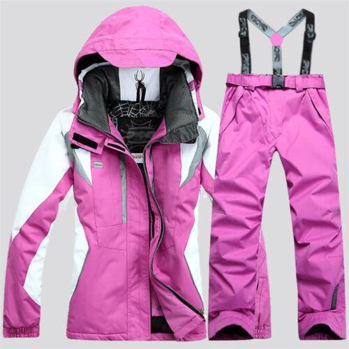 Women/'s Winter Waterproof Outdoor Coat Pants Ski Suits Jacket Snowboard Clothing