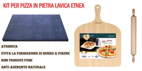 mattarello paletta prendipizza Kit per pizza in pietra lavica  piastra forno