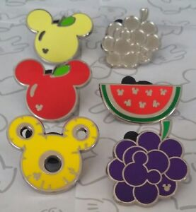 Fruit-2017-Hidden-Mickey-Mouse-Icon-Set-WDW-Choose-a-Disney-Pin