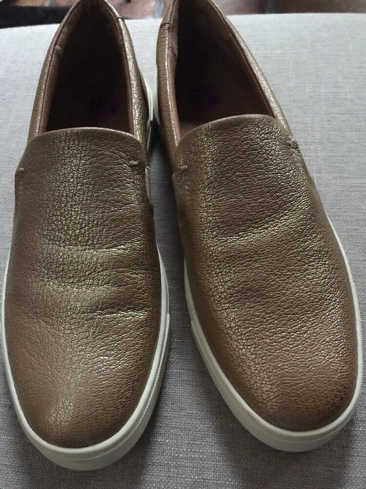 Womens Frye Dylan Slip On Loafer Tumbled Tumbled Tumbled Gold Leather Shoe Size 8.5 8d8c4a