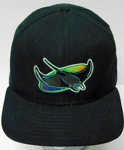 eb95775e97d Vintage 1990s TAMPA BAY DEVIL RAYS MLB BASEBALL New Era SNAPBACK HAT ...