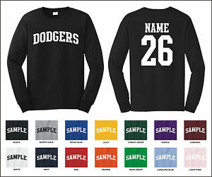 Image is loading Dodgers-Custom-Personalized-Name-amp-Number-Long-Sleeve- 051c955e4c9