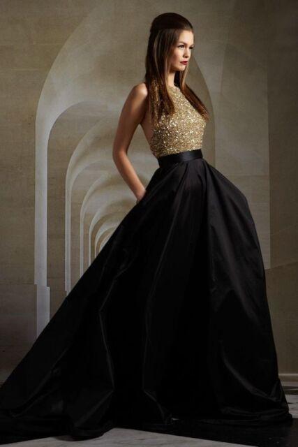 Long Black Maxi Satin Full length Women Skirts Bridesmaid Party Gowns Ball Dress