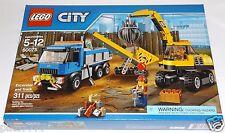 LEGO City EXCAVATOR and TRUCK 60075 demolition expert jackhammer shovel broom