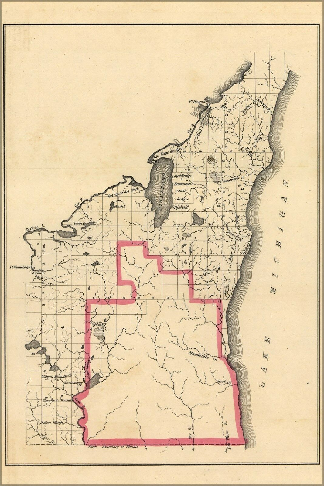 Poster, Many Größes; Map Of Wisconsin Territory, 1835