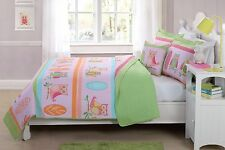 TWIN  SIZE 3 PC CHILDREN'S KIDS GIRLS QUILT BEDDING BEDSPREAD OWL COLORS