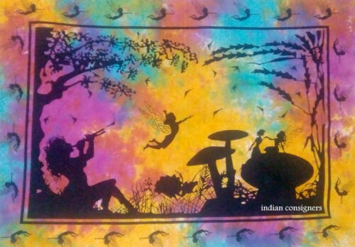 Indian Beautiful Wall Art Multi Color Fairy Love Design Small Tapestry Poster