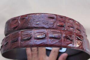 Luxury-BROWN-Genuine-Alligator-Crocodile-Leather-Skin-MEN-039-S-Belt-W-1-3-inch