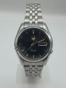 Seiko 5 Automatic Black Dial Silver Stainless Steel Men's Watch SNK361K1