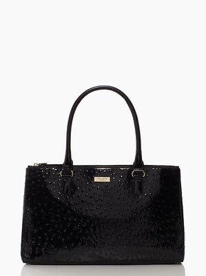Kate Spade Handbag Alexander Avenue Martine Shoulder Bag in Black Patent -NEW