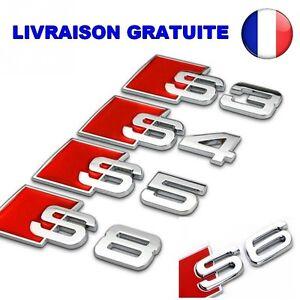 Logo-Autocollant-Embleme-Voiture-Auto-AUDI-S-S3-4-5-6-8-Aluminium-3D-Metal-TOP