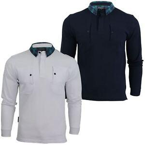 Camisa-Polo-para-hombre-por-Voi-Jeans-039-Rory-039-Manga-Larga