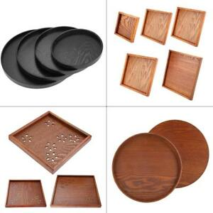 Large-Solid-Wood-Tray-Serving-Trays-Tea-Plate-Coffee-Plates-Bread-Wooden-Brunch