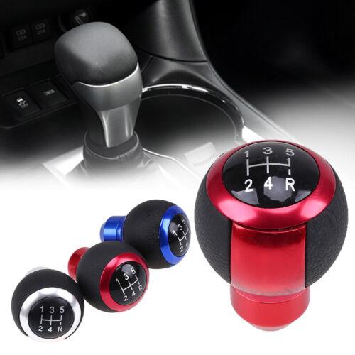 Red Universal Car Aluminum 5 Speed Manual Gear Stick Shift Knob Lever Shifter