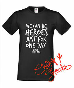 Charmant David Heros Cancer T-shirt Premium T Shirt T-shirt Bowie Noir-afficher Le Titre D'origine Qualité Et Quantité AssuréE