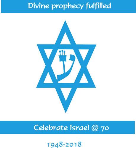 Celebrate Israel 70th Year Men/'s Tee