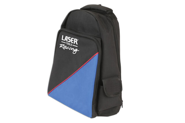 LASER RACING TOOL BACK PACK RUCKSACK - ZIP UP POCKETS ID POCKET ROBUST FABRIC