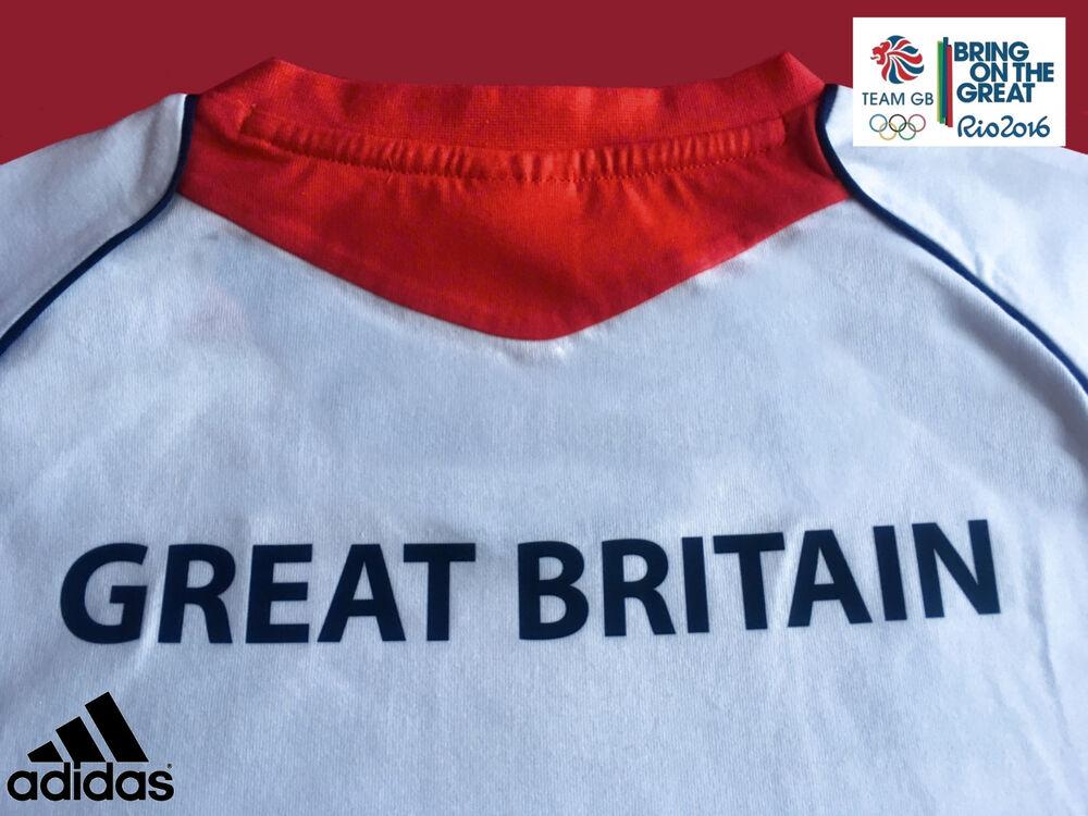 """Adidas Team Gb Élite Athlète Olympique Numéro événement T-shirt Taille 16 Tour De Poitrine 38"""" ArôMe Parfumé"""
