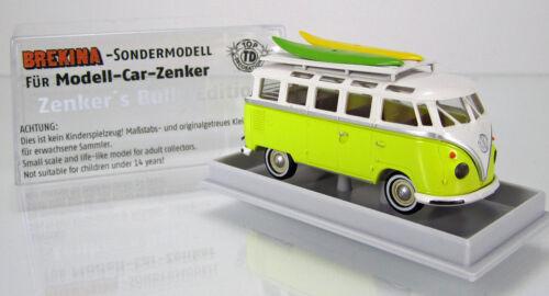 MCZ 03 192 Volkswagen VW Samba Zenkers Bully Edition schwefelgelb Standard 1 87