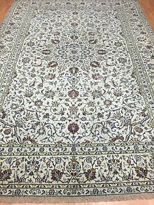 79-x-112-Persian-Kashan-Oriental-Rug-1950s-Hand-Made-100-Wool