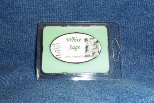 **NEW** Hand Poured Herbal Scent Soy Candles Tarts /& Votives White Sage