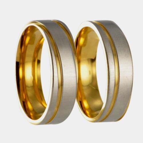 2 x Edelstahl Ring Freundschaftsring Ehering Trauring x20136