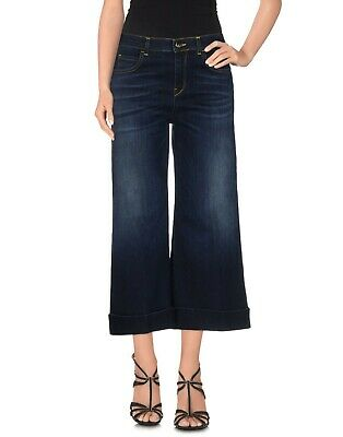Affidabile Jeans Donna Pantaloni Kaos Jeans Gamba Larga Bootcut Blu I798 Tg 25 28 29 Una Grande Varietà Di Merci