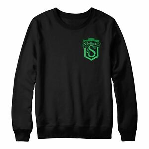 9eca73f8 Image is loading Slytherin-Logo-Jumper-Slytherin-Snake-Slytherin-Crest- Embroidered-