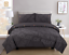 Pintuck-Pinch-Pleated-Duvet-Cover-Bedding-Set-Single-Double-King-With-Pillowcase thumbnail 15