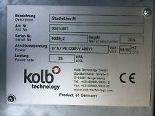 Kolb Technology Studioline M 5 Axis Clay Foam Milling Model Making Machine