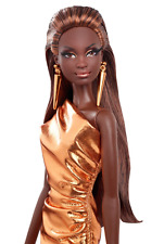 The Barbie Look Collection City Shine Black Label Bronze Dress AA Barbie Doll