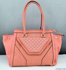 FREE Ship USA Handbag GUESS Tough Luv Satchel Bag Tangerine Chic Stylish
