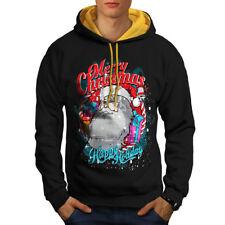 Mens Santa I Dont Believe in You Either B1514 Gray Fleece Vest Hoodie