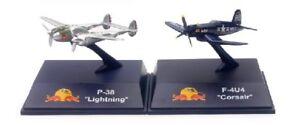 Set-de-2-avions-P-38-Lightning-et-F-4U-Corsair-The-Flying-Bulls-1-200-New-Ray