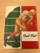 1952 The Goal Post Program - TCU HORNED FROGS  vs. UCLA BRUINS - NCAA Football