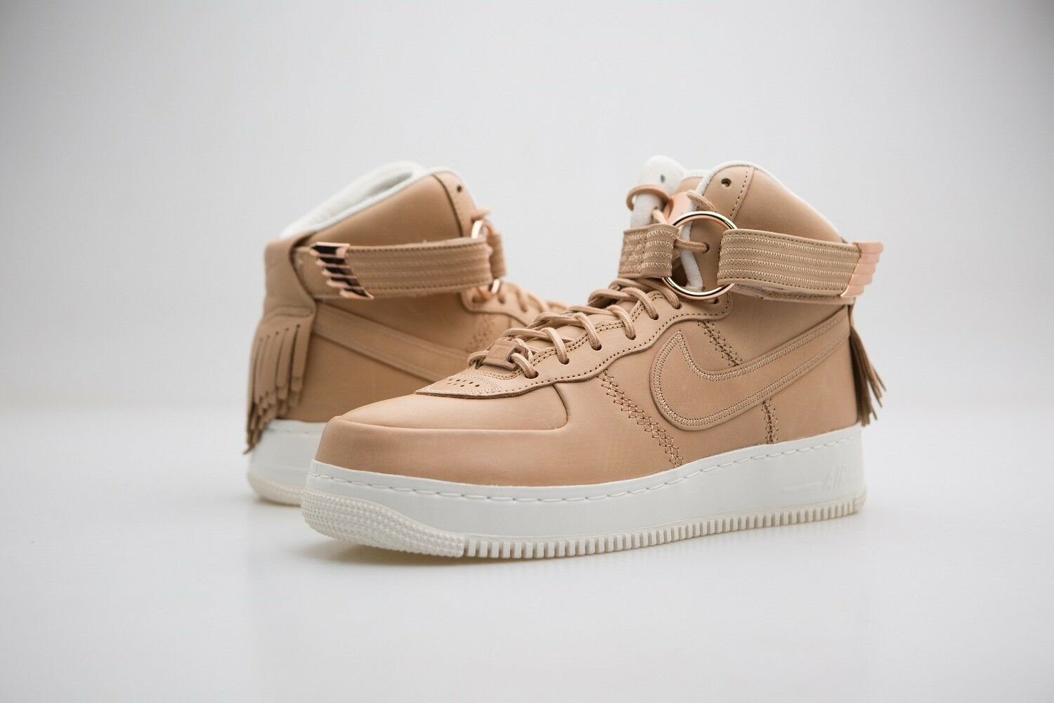 919473-200 nike air force di alto e uomini vachetta tan