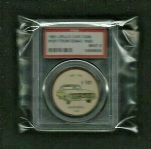 """1961 Jello Car Coins """"1960 FRONTENAC"""" #181 Graded PSA 9 MINT! EXTREMELY RARE"""