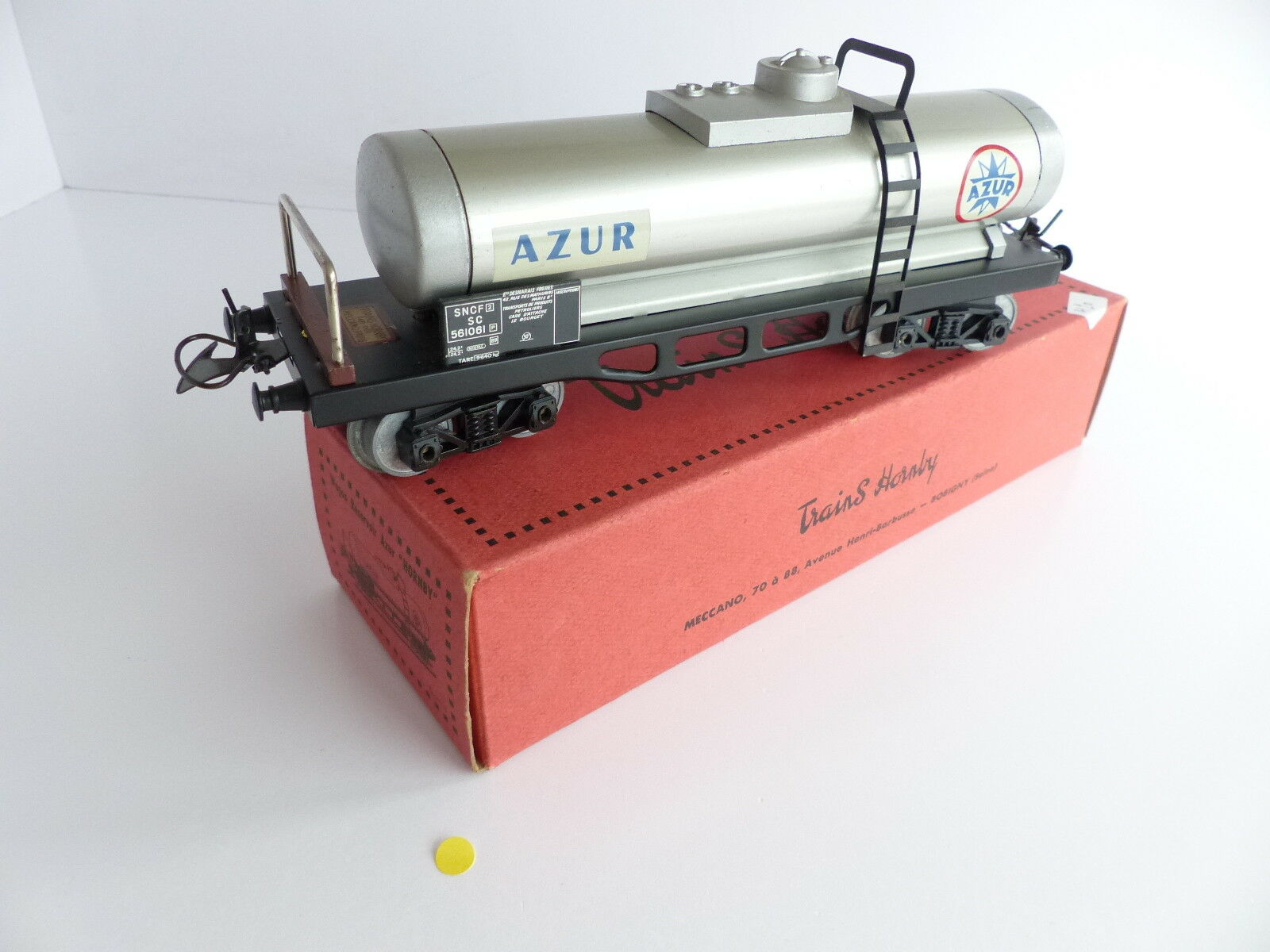 Hornby wagon tank has bogies azur sncf o scale no 3 plastic bogies