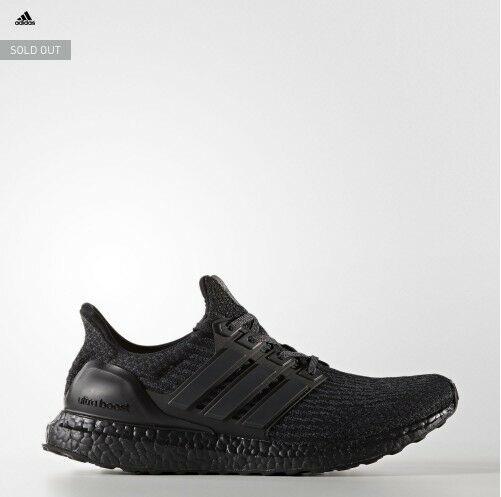 Mens Adidads Caged Ultra Boosts Triple Black Size 10.5