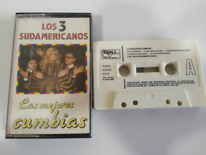 LOS-3-SUDAMERICANOS-LAS-MEJORES-CUMBIAS-CASSETTE-TAPE-CINTA-TIMPLE-1988