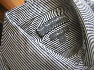 100% QualitäT Finshley & Harding Herrenhemd Business Twill Modern Fit Gr. 41 Langarm