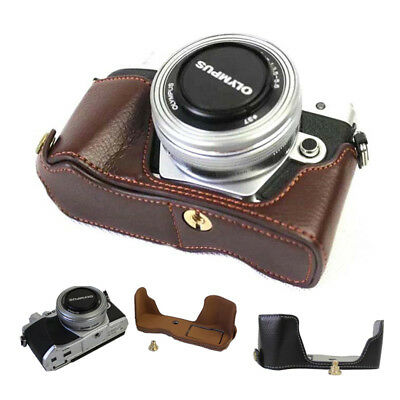PU Leather Camera Case Fit Olympus OM-D E-M10 Mark III with 14-42 EZ Zoom Lens