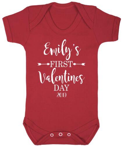 Personnalisé Bébé Tenue Pour personnalisé prénom Saint Valentin 2019 AS160