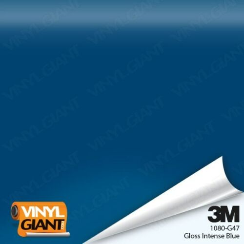3M 1080 G47 GLOSS INTENSE BLUE Vinyl Vehicle Car Wrap Trim Decal Film Sheet Roll