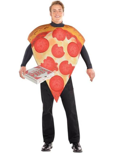 FOOD PIZZA SLICE ALL IN ONE FOOD NOVELTY One Size mens fancy dress costume