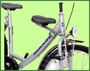 kindersitz set f r damen city fahrrad ebay. Black Bedroom Furniture Sets. Home Design Ideas