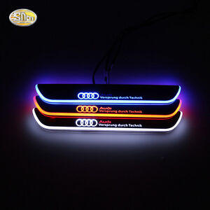 Image is loading Led-door-sill-for-Audi-A5-4-Door- & Led door sill for Audi A5 4-Door 2012-2015 moving light door scuff ...